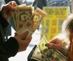 Гривна растет, рубль - падает