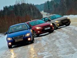 Lifan 620, Hyundai Accent, Ford Focus: за свежим снегом