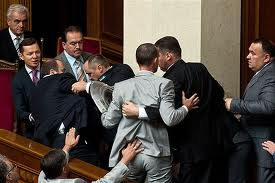 Парламент блокировали поклонники Юли