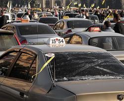 На Киев движутся колонны протестующих предпринимателей