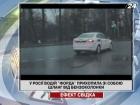 В России блондинка прихватила с собой шланг от бензоколонки