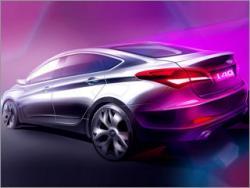 Hyundai показала первое изображение нового седана