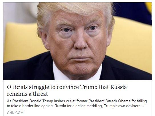 Официальные лица изо всех сил пытаются убедить Трампа, что Россия остается угрозой