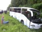 ДТП на трассе Киев-Чернигов. Перевернулся автобус с русскими паломниками
