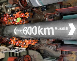 Nord Stream: Половина первой нитки газопровода «Северный поток» построена