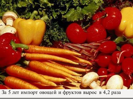 Украину наводнили овощами и фруктами