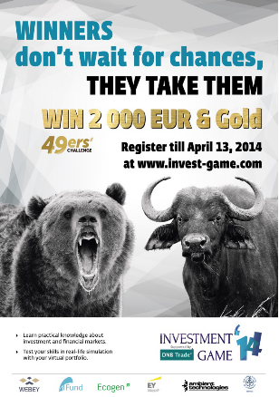 В Прибалтике 14 апреля стартует он-лайн симуляция торгов на рынке ценных бумаг