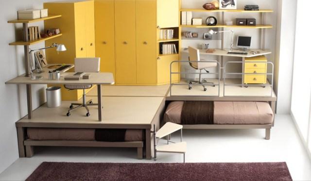 Необычная мебель для двоих детей
