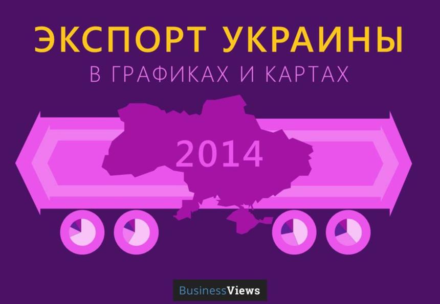 10 отличных графиков про экспорт Украины в 2014 году