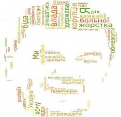 Речь Януковича изобразили графически (ФОТО)