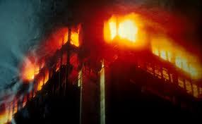 Сгорел целый этаж здания налоговой