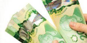 В Канаде ввели в оборот пластиковые купюры номиналом $20