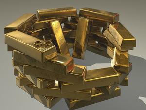 Золото дорожает на фоне статистики из США