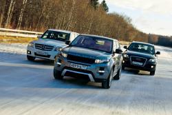 Range Rover Evoque, Mercedes-Benz GLK, Audi Q5: три богатыря