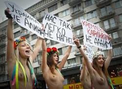FEMEN возмущено российской подделкой