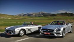 Знакомимся с родстером Mercedes-Benz SL 500 и его предками