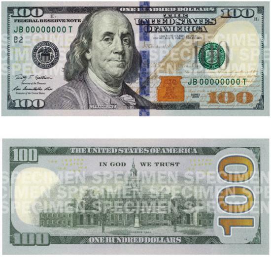 Новая 100-долларовая купюра появится позже запланированной даты