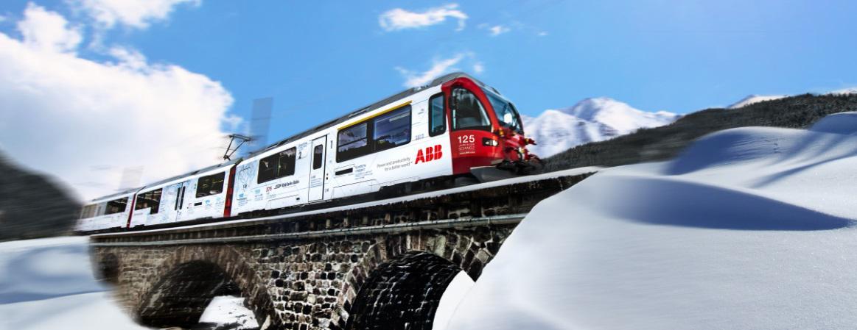 Компания АББ начинает свой юбилейный год, запуская поезд Allegra под брендом АББ