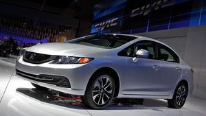 Рестайлинговый седан Honda Civic дебютировал в Лос-Анджелесе
